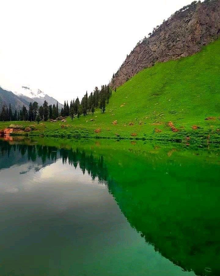 Neelam Valley Azad Kashmir Pakistan Rainbow Lake Mirror view