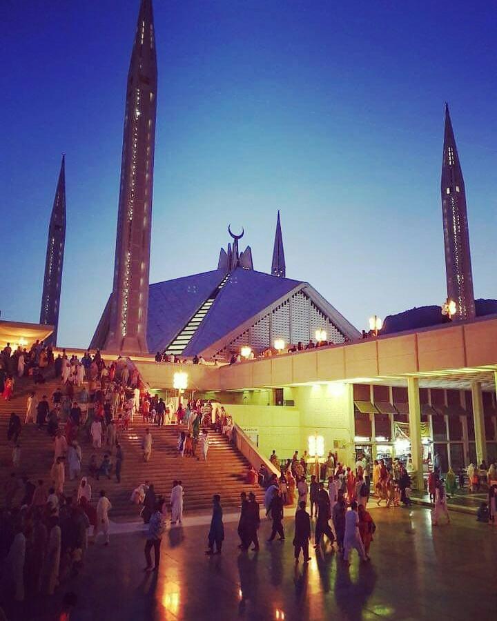 Faisal Masjid Islamabad beauty of Pakistan faisal mosque