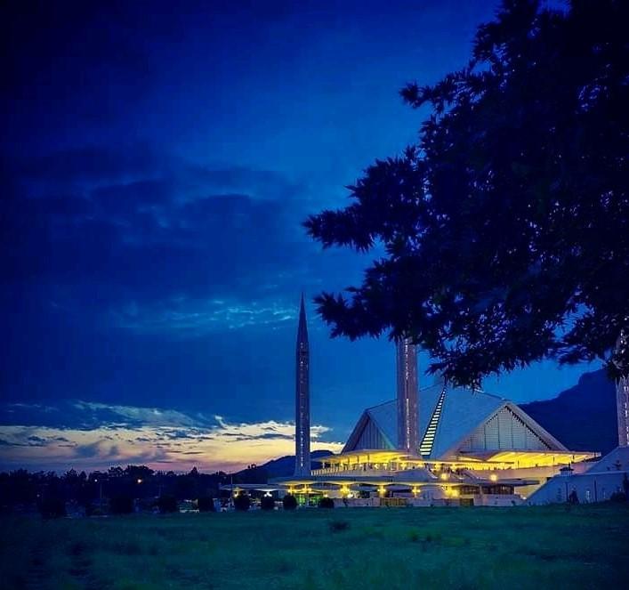 Faisal Mosque Evening View