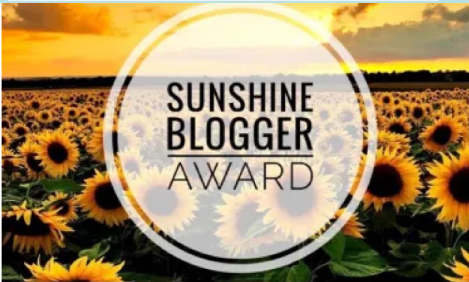Sunshine Blogger Award motivation inspiration