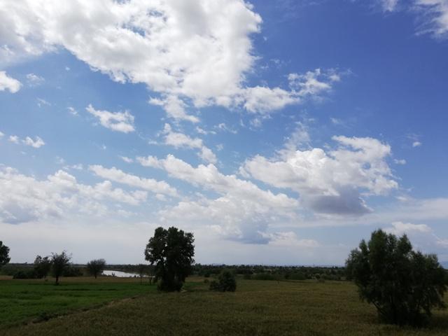 Beautiful blue sky white clouds