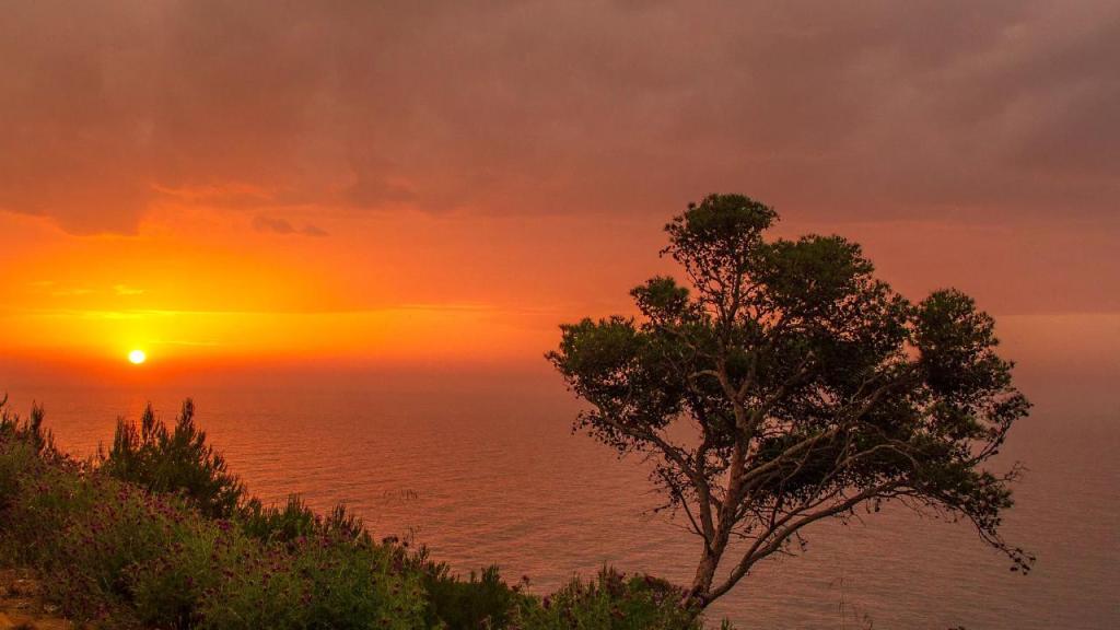 Most beautiful sunset view